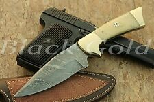 Custom Handmade DAMASCUS HUNTING / SKINNER KNIFE SK-871.BUY 2 GET 1 STEEL FOLDER