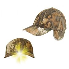 JACK PYKE WILDFOWLER LED LIGHT CAMO CAP HUNTING SHOOTING HAT ENGLISH OAK TRAPPER
