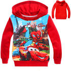 2-8Y Kids Boys Spider man Sports Long Sleeve Coat Hoodies Sweatshirts Jumper