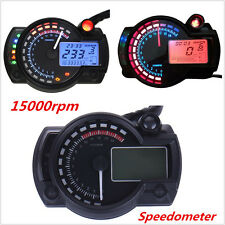 15000rpm LCD Digital Dual Color Speedometer Tachometer Odometer Gauge For Ducati