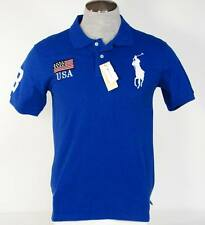 Ralph Lauren United States USA Blue Short Sleeve Polo Shirt Mens Small S NWT