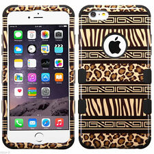 Tuff HYBRID Hard Case Cover Zebra Cheetah Leopard For Apple iPhone 6 PLUS 5.5""