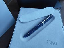 OMAS 360 ROYAL BLUE CELLULOID FOUNTAIN PEN PROTOTIPO OM103