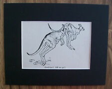 Kangaroos Print Winifred Austen Goodbye Off We Go 1935 Bookplate 8x10 Matted