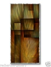 Brushed Metal Art Abstract Wall Sculpture 'Order Upheald' by Michael Lang