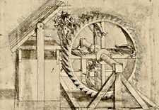 Treadmill Powered Crossbow 1485 - 88 Leonardo da Vinci   Poster Print