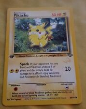 POKEMON PROMO CARD - GOLD W STAMPED - PIKACHU - 1ST EDITION