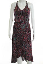 Ella Moss Multi-Color Crossover Ruffle Trim Dress Size Extra Small $198 JG04