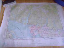 Vintage Topographic Map Vancouver British Columbia First Edition 1:250,000 92G