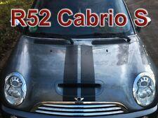 Viper-Streifen Aufkleber Stripes für BMW MINI COOPER R52 *S* Cabrio Works Union