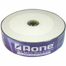 100 x aone CD-R Vierge CD disques full face imprimable jet d'encre Blanc 700 Mo 80 min