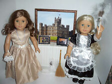 LADY MARY & HER MAID set for American Girl doll REBECCA & CAROLINE Downton Abbey