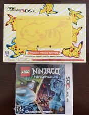 NEW Nintendo 3DS XL Pikachu Yellow Edition / Lego Ninjago Nindroids Game Bundle