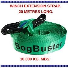 BOGBUSTER WINCH EXTENSION STRAP ROPE 20 METER 10000 KG TOW RECOVERY 4X4 4WD