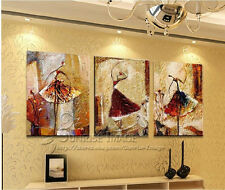 """OP390 Hand-painted Abstract Oil Painting on canvas wall decor """"Ballet""""(NO Frame)"""