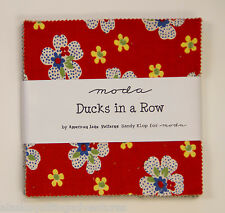 """Moda FABRIC Charm Pack ~ DUCKS IN A ROW ~ by American Jane 42 - 5"""" squares"""