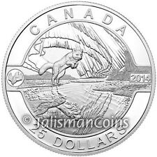 2014 Oh! Canada Series 9 Northern Lights and Arctic Fox $25 1 Oz Silver Proof