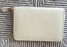 Barney's New York Medium Leather Zip Around Wallet in Bone / Latte / Tan