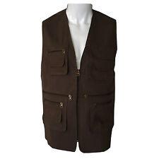 Mens Summer Multi Pocket Coat Mesh Lined BodyWarmer Waistcoat lightweight Jacket