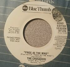 Crusaders, The ‎– Free As The Wind ~ Promo (VG++)