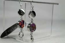 Elegant Double Loop & Solid Earrings With 2 Sets of Magnet Charms-Love++ NWT!