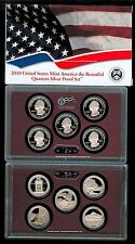 2010 America The Beautiful SILVER 5 quarters PROOF SET ATB