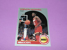 126 VERNON MAXWELL HOUSTON ROCKETS 1990 NBA HOOPS BASKETBALL CARD