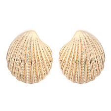 Gold Silver Shaped Shell Studs Earrings Shell Out Studs Earrings Jewelry
