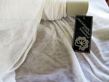 """Imported Swiss Couture WHITE BRIDAL TULLE fabric by the yard 122"""" wide very soft"""
