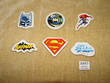COLLECTION OF 6x SUPERHEROES BATMAN SUPERMAN COLLECTABLE ERASERS  XMAS GIFT IDEA