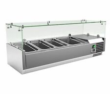 Empire Refrigerated Counter Top Servery Prep Unit 3 x 1/3 & 1 x 1/2 GN - VRX1200