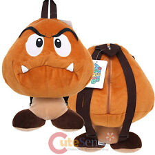 Super Mario  Goomba  Plush Doll Backpack Nintendo Mushroom Cosplay Costume Bag