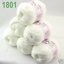 Sale 6ballsx 50gr DK Baby Soft Cashmere Silk Wool hand knitting Crochet Yarn 01