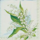6 Servietten Napkins Maiglöckchen - Frühling - Lilly of the Vailley - vb126