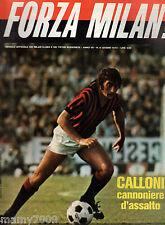 RIVISTA=FORZA MILAN!=N°6 1975=CALLONI=GIAGNONI=SERIE A =COLLOVATI=TANCREDI