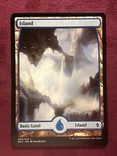 Battle for Zendikar Full Art Land  Island #256  VO  -  MTG Magic (Mint/NM)