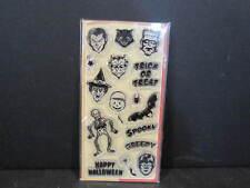INKADINKADO Clear Stamps HALLOWEEN - UNUSED - Devil Frankenstein Werewolf,Bat