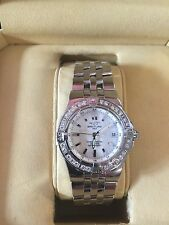 Breitling A71340 Womens Starliner Diamond Bezel, And Mother-of-Pearl Watch Dial.