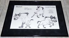 DISNEY THE LION KING SHENZI HYENA FRAMED ORIGINAL PRODUCTION MODEL SHEET 1993