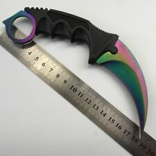 NEW Outdoor  Hunting  KARAMBIT NECK KNIFE Survival Hunting Fixed Blade+Sheath