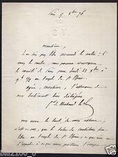 lettre autographe du Général François de Chabaud-Latour datée de 1876