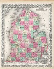 234 maps MICHIGAN state PANORAMIC old genealogy lots HISTORY teaching atlas DVD