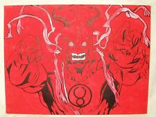 Canvas Painting Thundercats Mumm Ra Mummra Red Pink Art 16x12 inch Acrylic