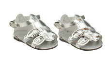 Silver Gladiator Sandals Fits 18 inch American Girl Dolls