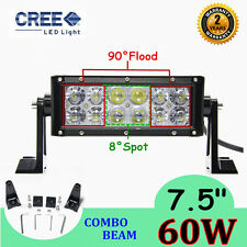 "60W 7""inch LED Combo Work Light Bar Offroad Driving Lamp 4WD Truck ATV AWD Car"