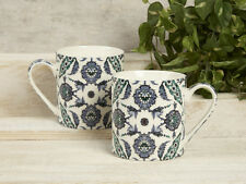 Set of 2 V&A Turkish Painted Tiles FINE CHINA MUGS