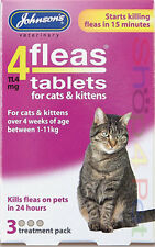 Johnsons 4 Fleas Tablets 4 Cats & Kittens 3 Treatments,Starts Killing in 15 Mins