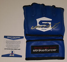 CLAY GUIDA SIGNED AUTO'D BECKETT BAS COA MMA STRIKEFORCE GLOVE CHAMPION WEC UFC
