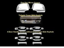 For Chevy Colorado 04-13 Chrome full Mirror cover  4 door Handle Tailgate Covers