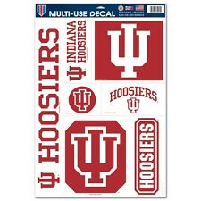 "INDIANA HOOSIERS 11""X17"" ULTRA DECAL SHEET BRAND NEW FREE SHIPPING"